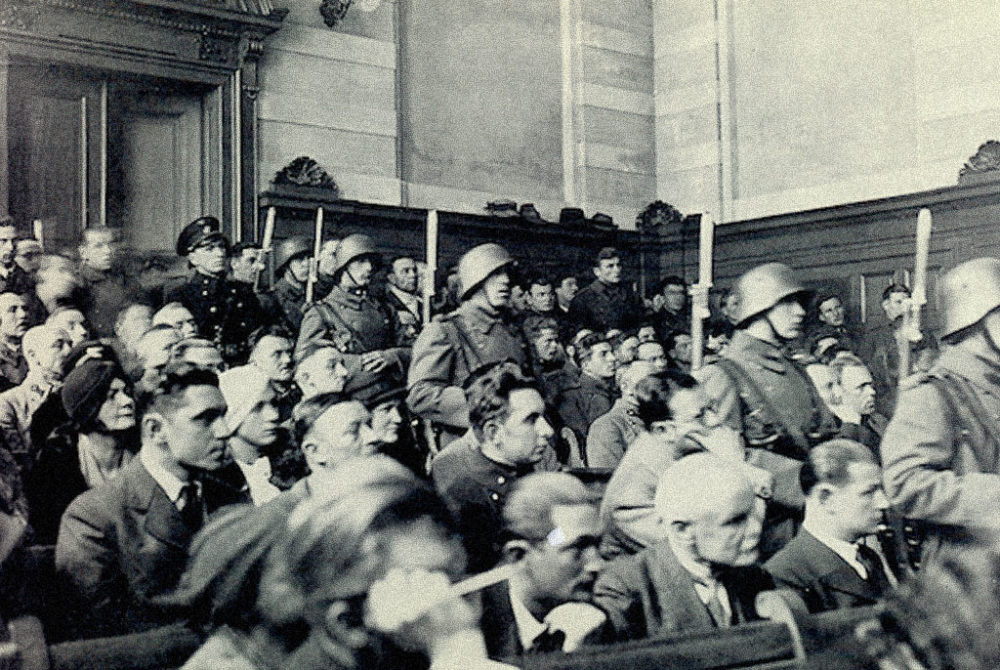 Standgerichtsverhandlung. Wien, Februar 1934